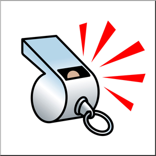 Clip Art: Whistle Color I abcteach.com.