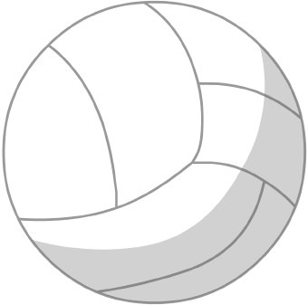 White Volleyball Clipart.