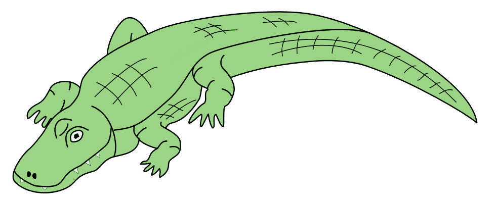 Alligator clipart tail, Alligator tail Transparent FREE for.