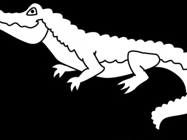 Alligator Clipart Outline.