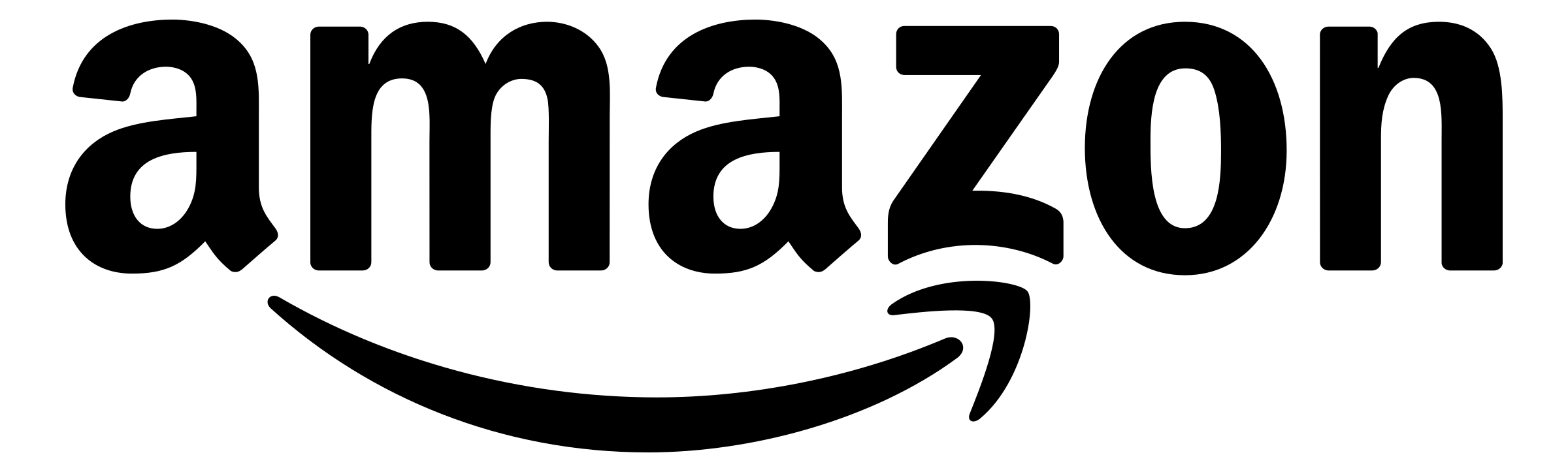 Amazon Logo White Png Transparent (+).
