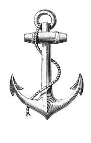 anchor clip art black and white.