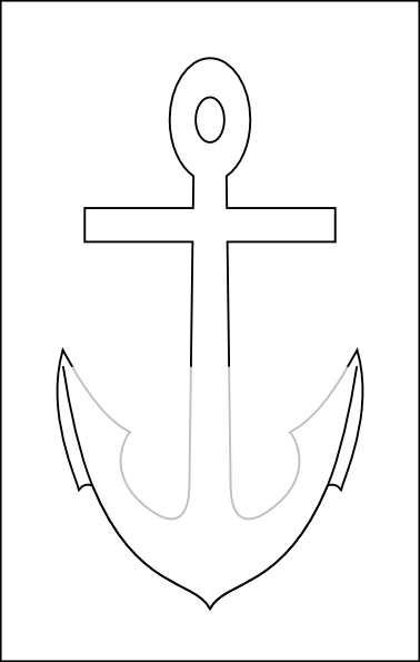 White Anchor Clip Art at Clker.com.