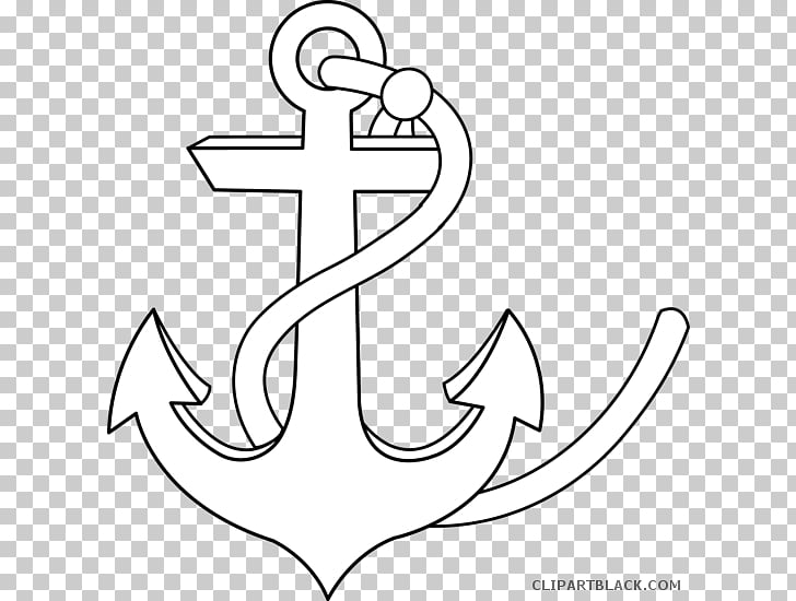Anchor Drawing Black and white, anchor PNG clipart.