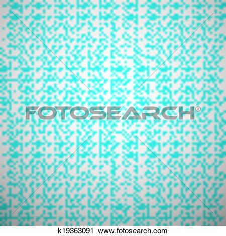 Clipart of Abstract aqua elegant seamless pattern. Blue and white.
