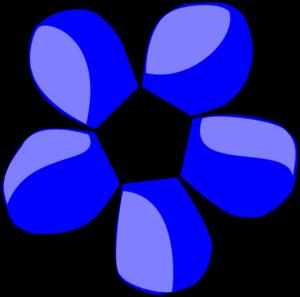 Blue Daisy White Center Clip Art at Clker.com.