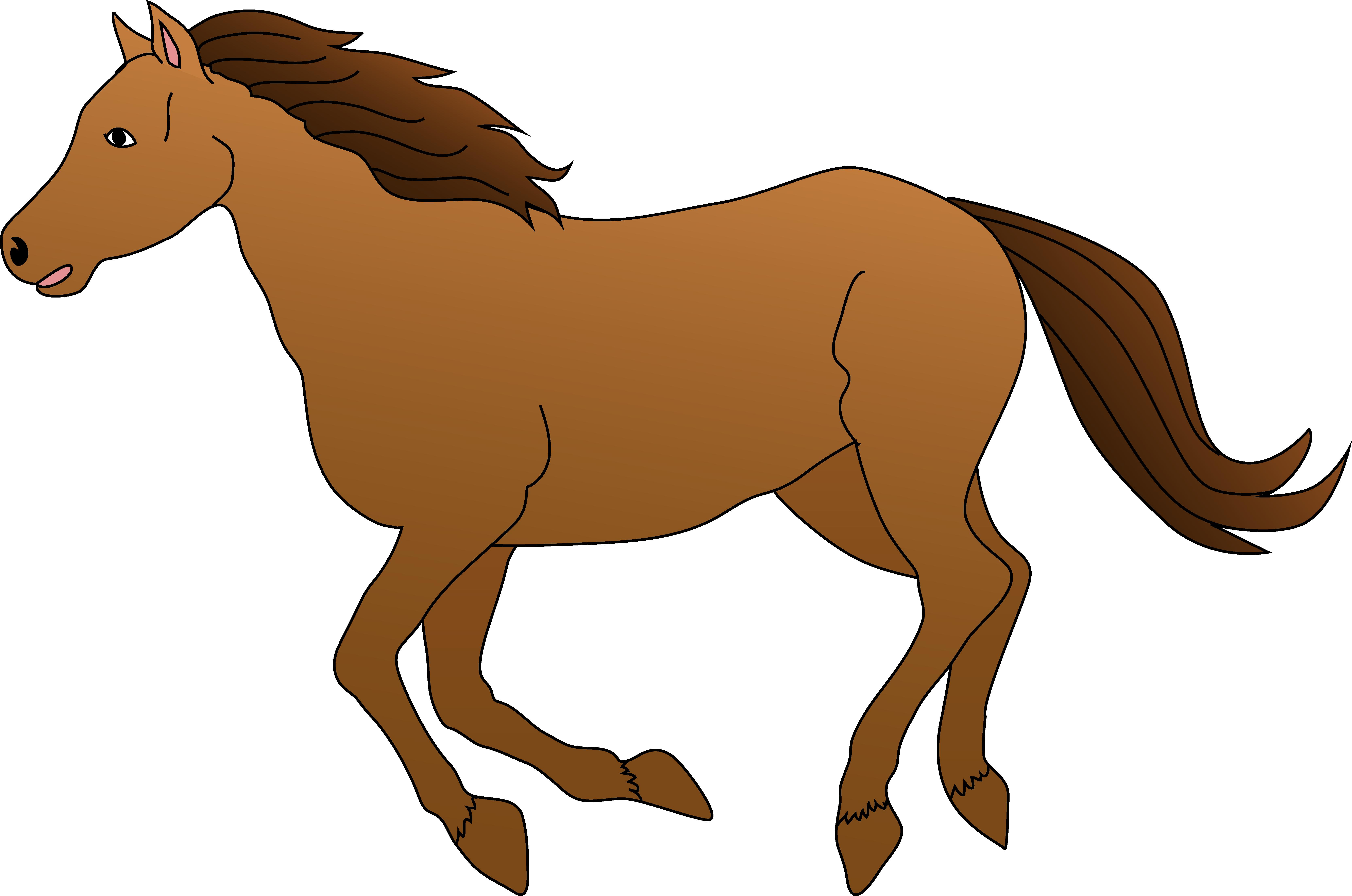 Brown horse clip art Free.