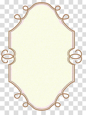 Cute Frames, oval white and brown frame art transparent.