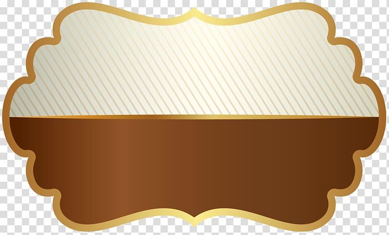 Brown and white border illustration, Template Label Résumé.