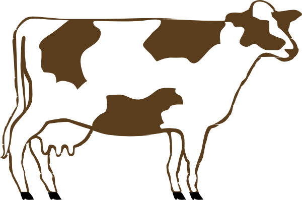 White And Brown Cow Clip Art at Clker.com.