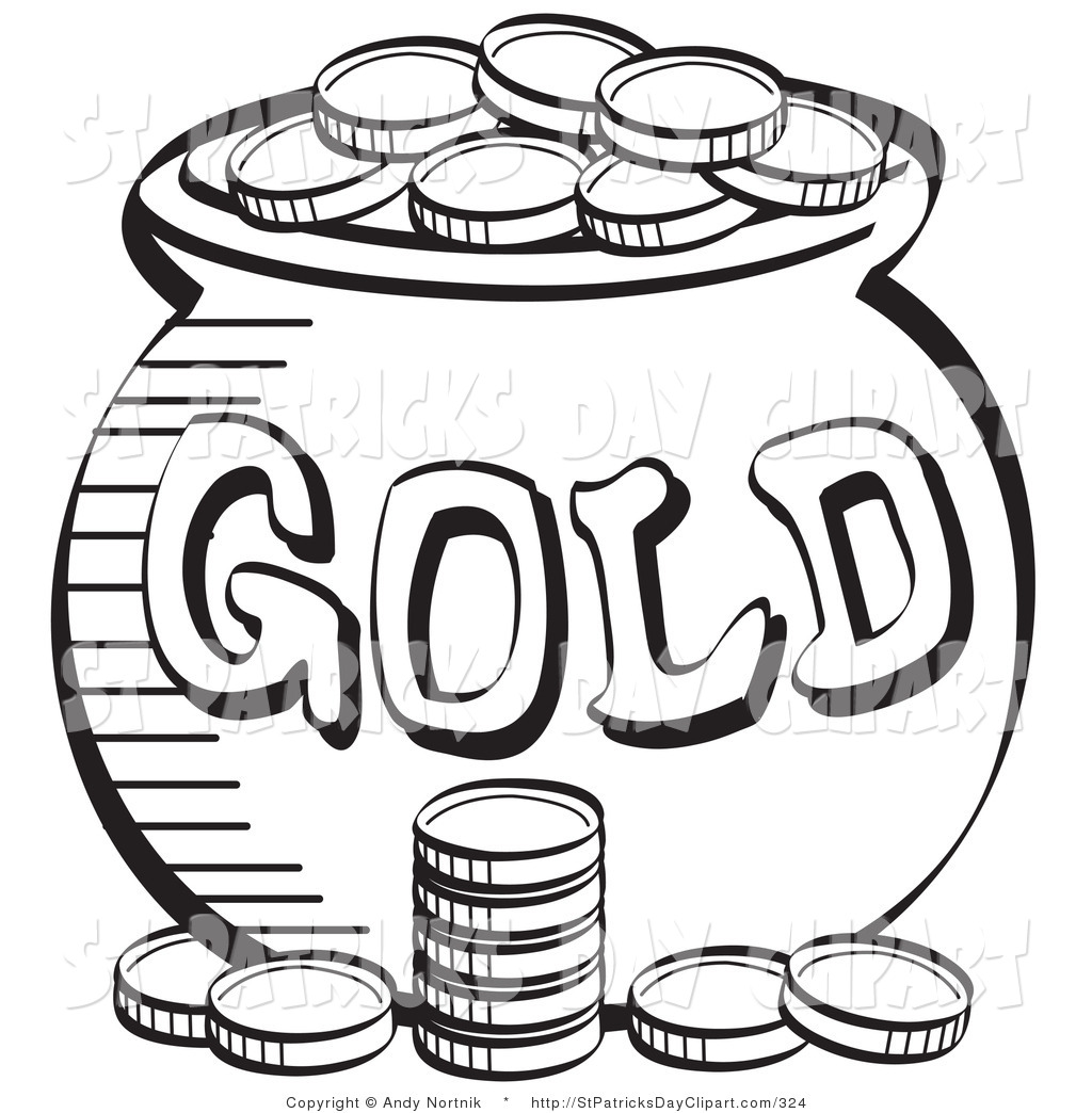 white and gold clipart #20