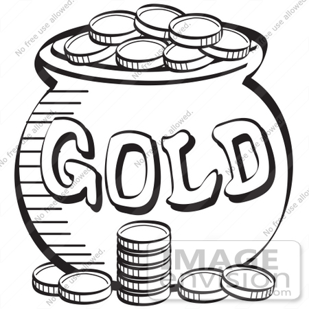 White And Gold Clipart.