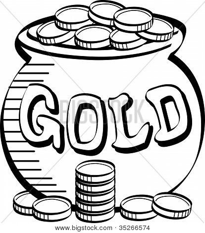 white and gold clipart #11