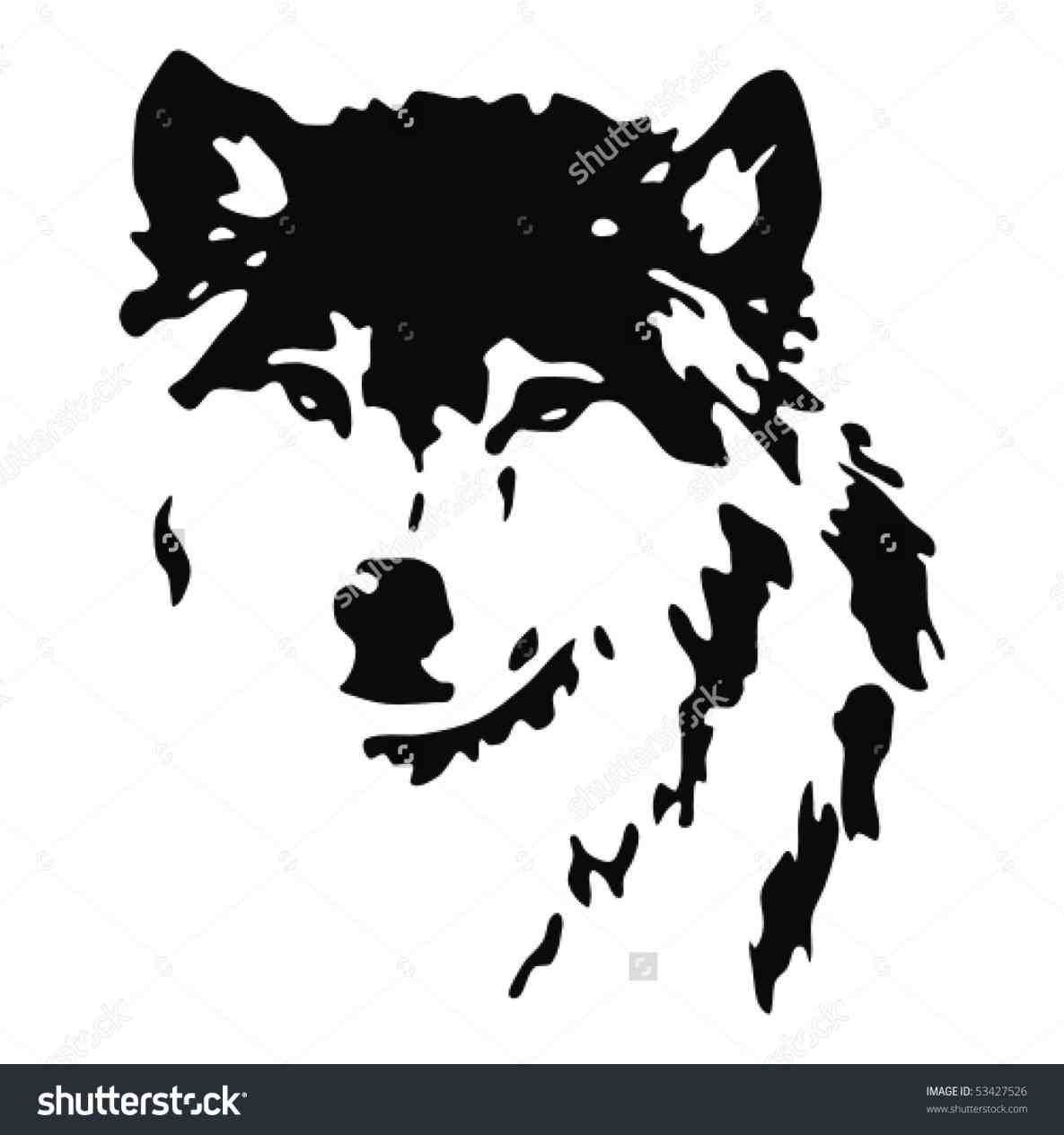 wolf head clipart black and white › kowee.xyz.