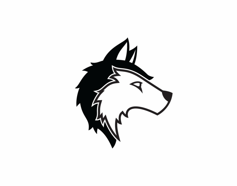 Wolf Logo White And Black.