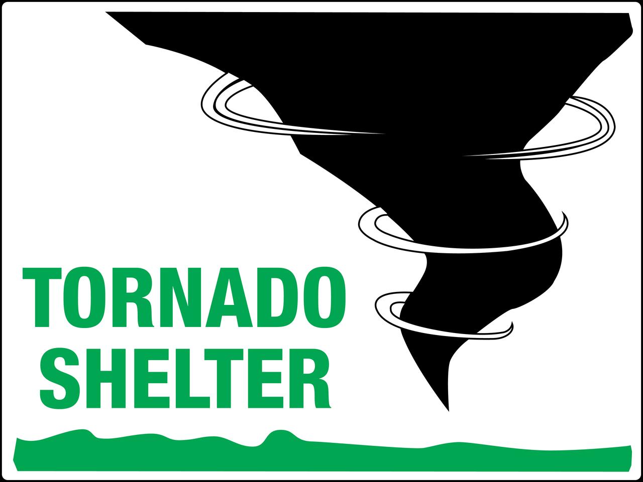 Tornado Shelter Signs.