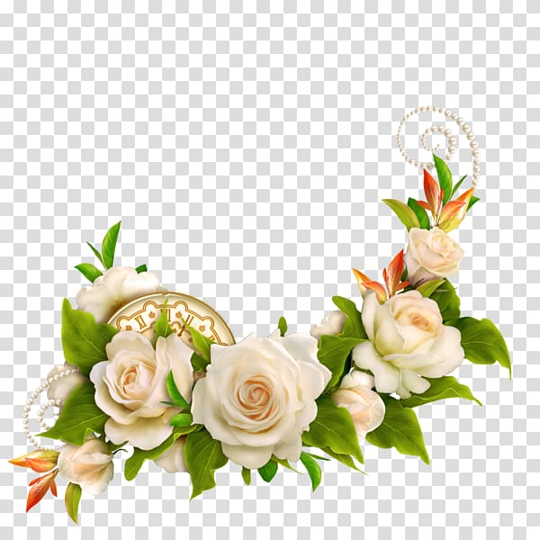 White artificial flowers , Flower Rose Wedding White, White.