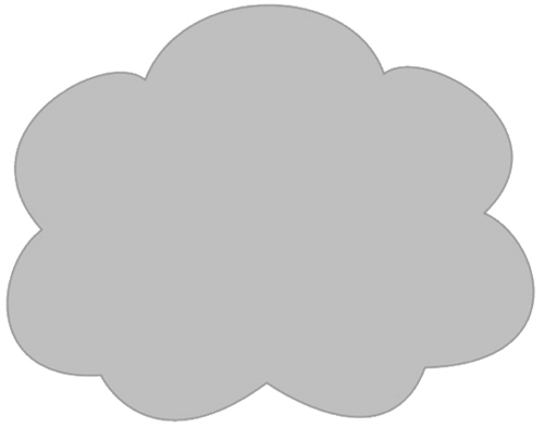 Gray And White Cloud Clipart.