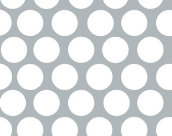 Grey and white polka dot clipart.