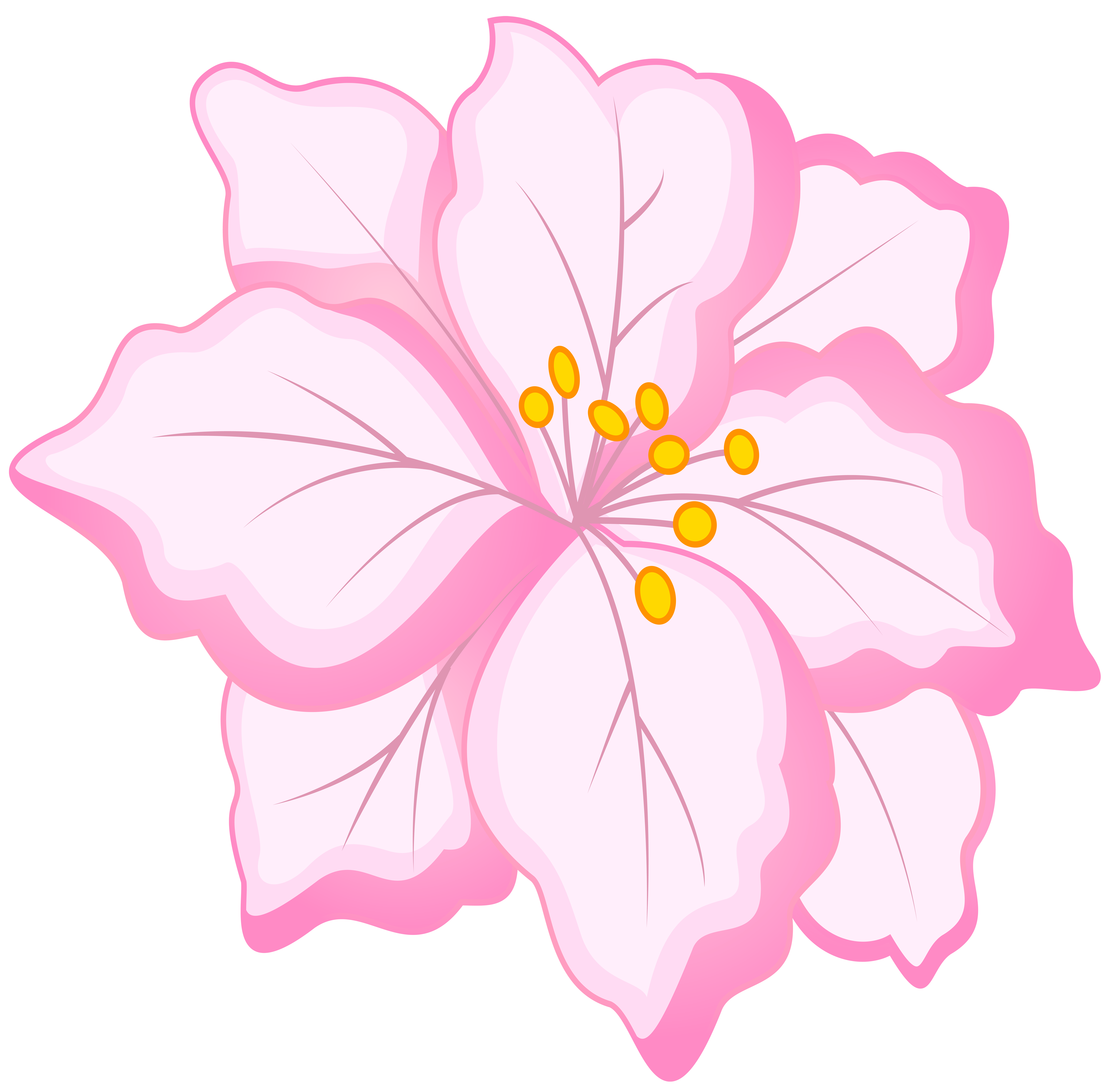 White Pink Flower PNG Clip Art Image.
