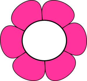 Pink And White Flower Clip Art.