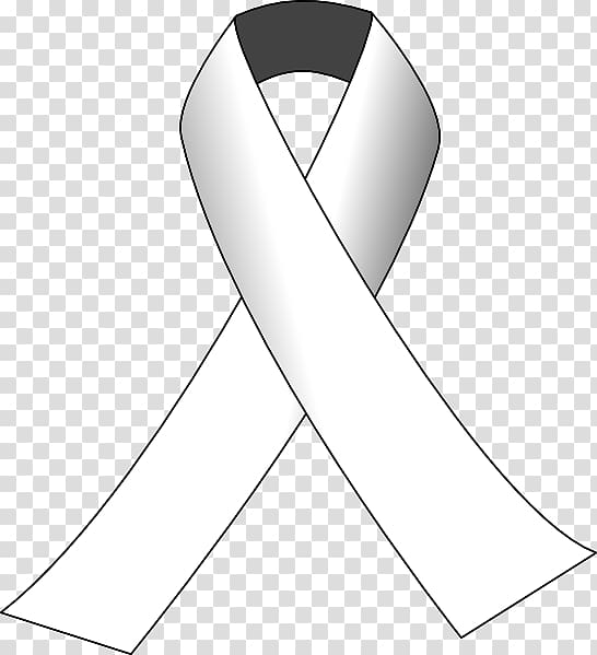 Awareness ribbon White ribbon Pink ribbon , white ribbon.