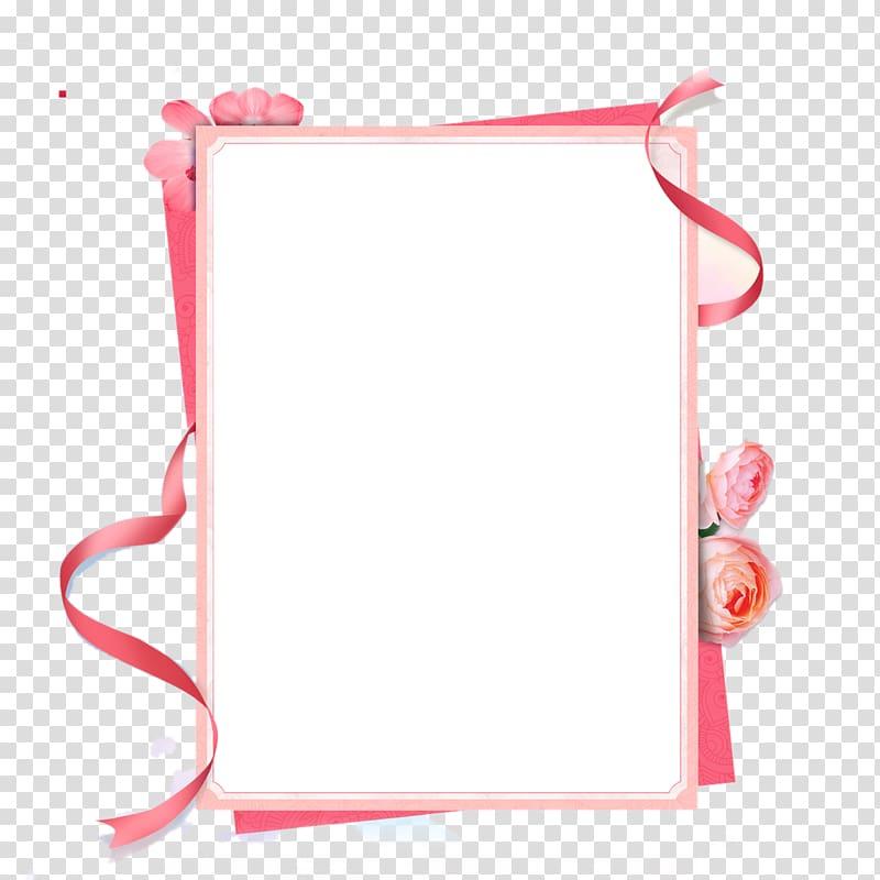 white ribbon border clipart #6