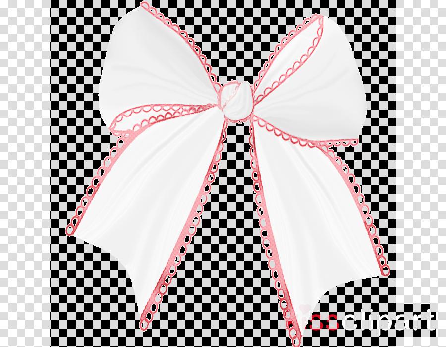 white pink ribbon clipart.