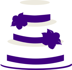 White And Purple Wedding Cake Clip Art at Clker.com.