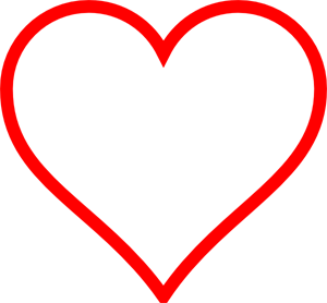 White Red Heart PNG Clip arts for Web.