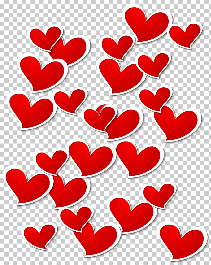 Heart Valentine\'s Day , Transparent Red White Hearts.
