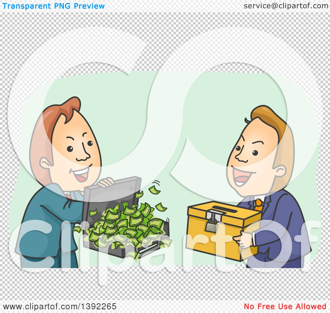 Clipart of a Cartoon Shady White Male Politician Buying a Ballot.
