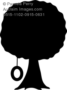Black white shade tree clipart.