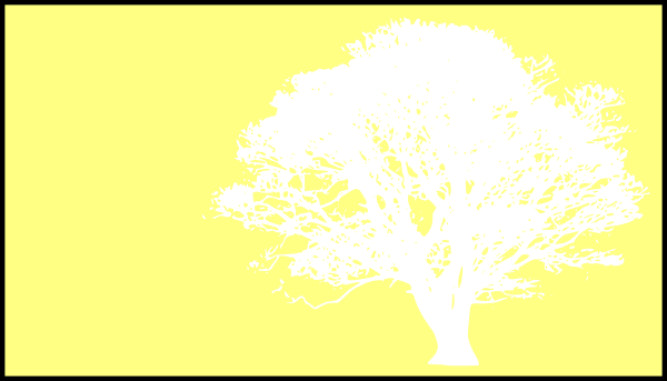 Tree, White, Silhouette, Yellow Background Clip Art at Clker.com.