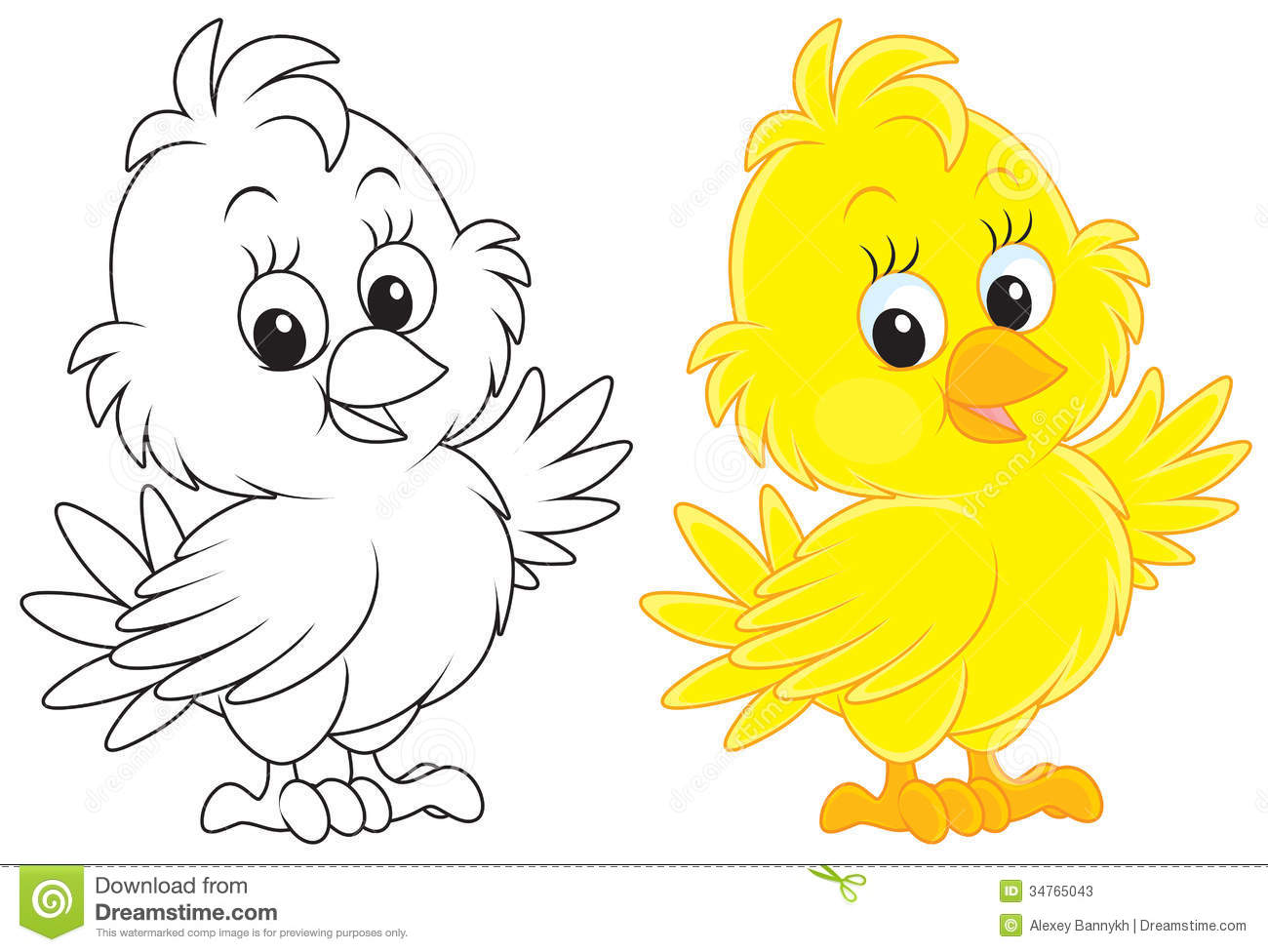 Things that are yellow color clipart.