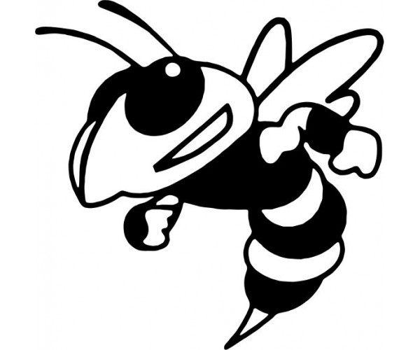 Hornet Black And White Clipart.