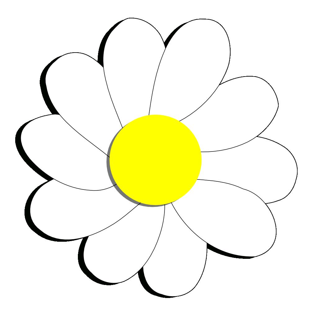 Daisy flower clip art.