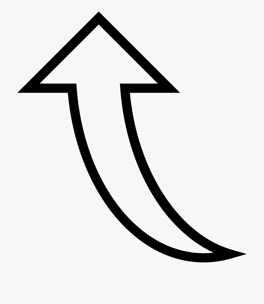 Curved White Arrow Png.