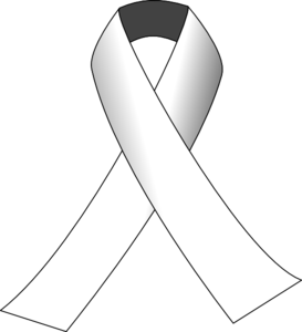 White Awareness Ribbon Clip Art at Clker.com.