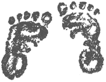 1125 Baby Feet free clipart.