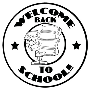 Back To School Clip Art Black And White.