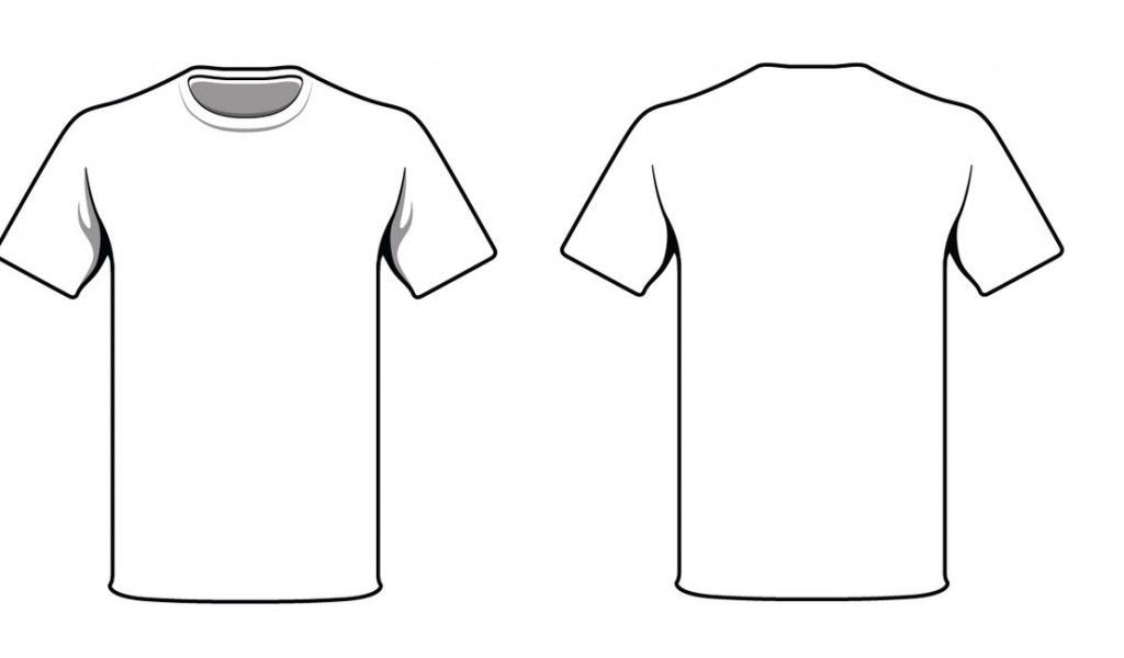 White Shirt Front Back Clipart.