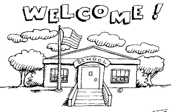 Black And White Back To School Clipart.