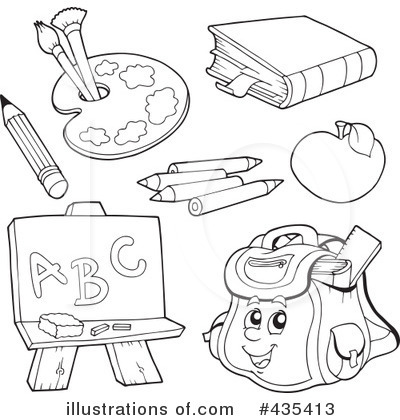 Free Black And White Back To School Clipart.