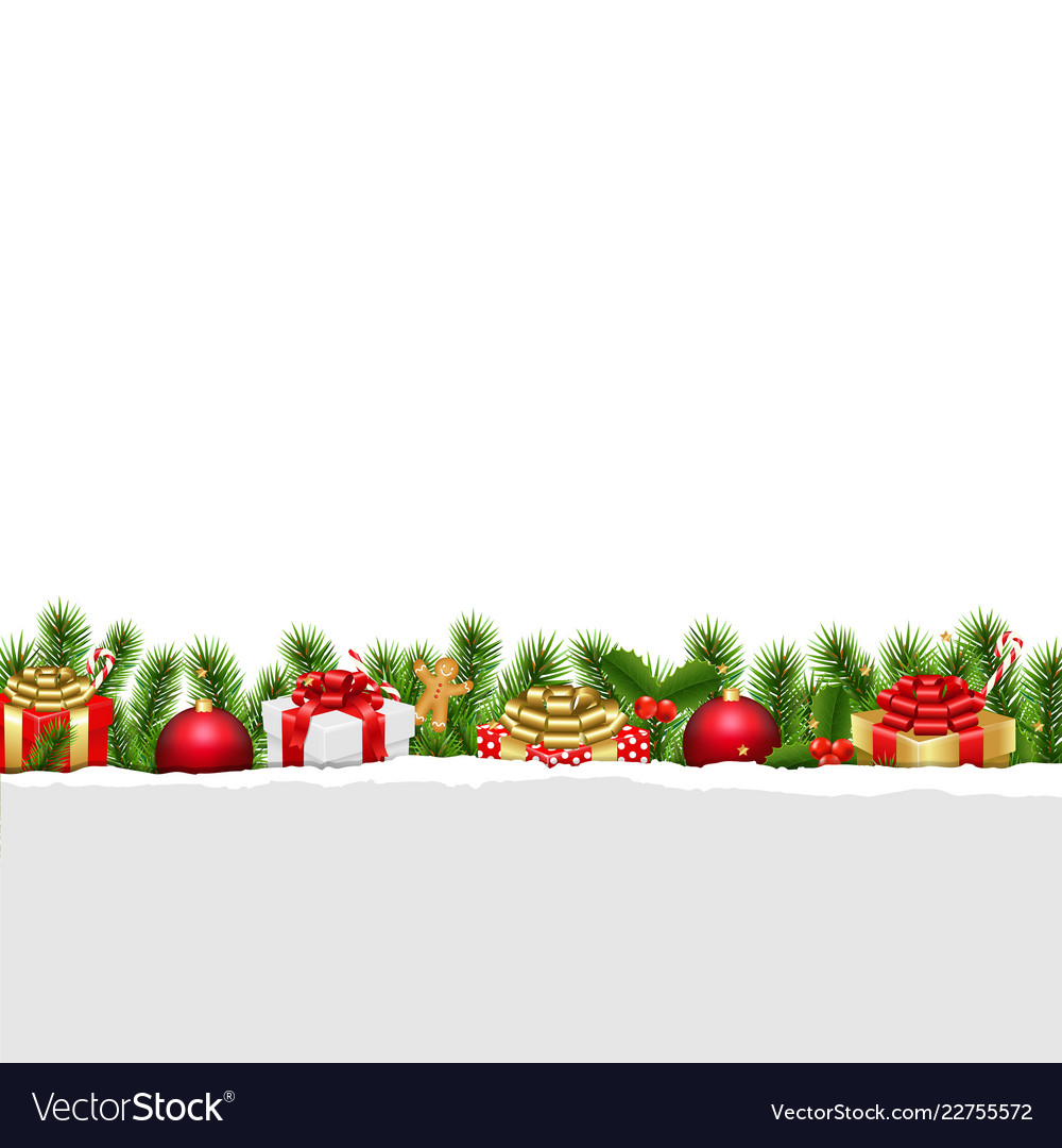 Christmas border white background.