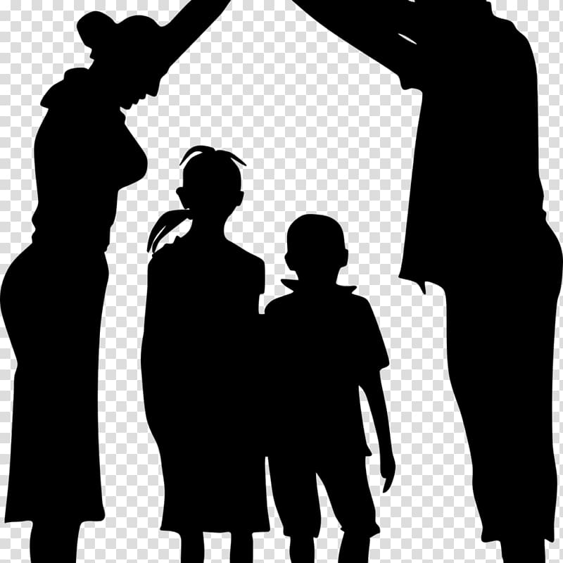 Family Child Silhouette , silhouette family transparent.