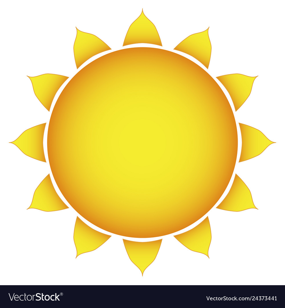 Icon of the sun on a white background stylish.