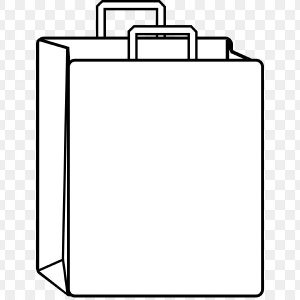 Black And White Bag Clipart.