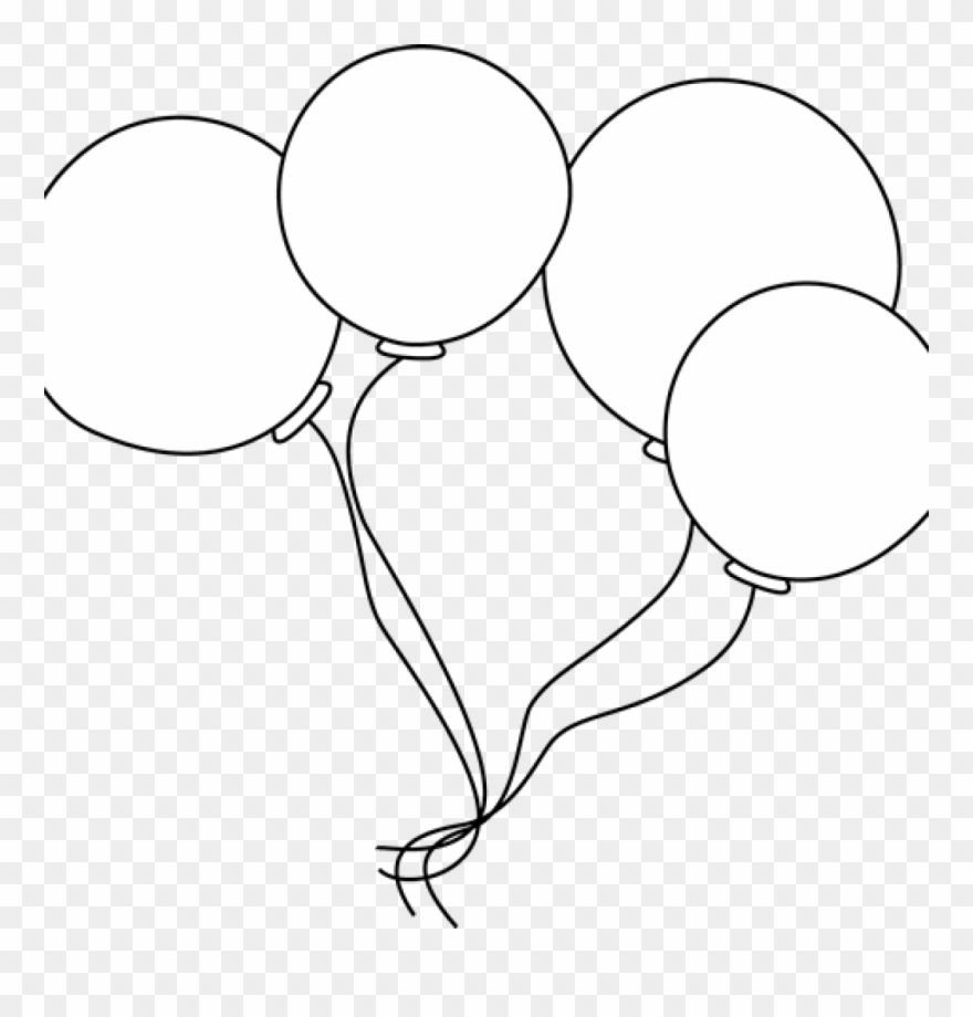 Black And White Balloons Clipart Black And White Balloons.