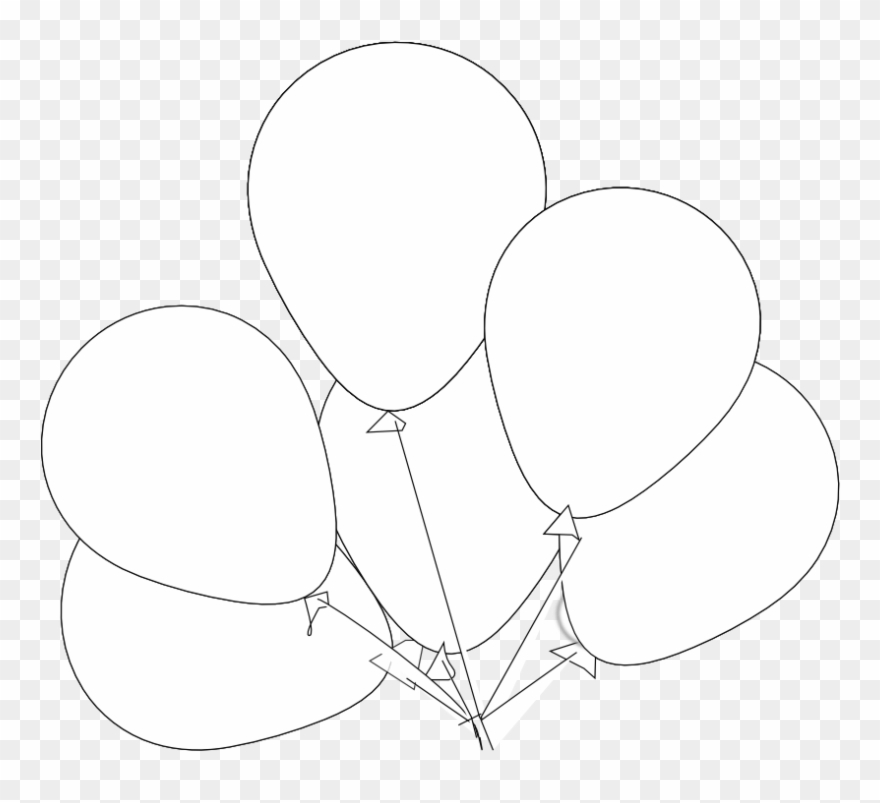 Image Library Stock Balloons Svg Black And White.